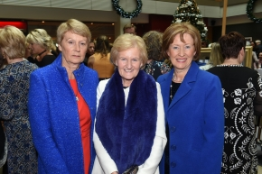 EE socials 19/11/2016.Ten Year Anniversary lunch at The Clarion Hotel on November 19th. The Emer Casey Foundation is a Cork based ovarian cancer charity which has worked to spread awareness of ovarian cancer as well as improving research and medical care for the past ten years.Maria O'Connor, Midleton; Maura O'Sullivan, Douglas and Mary O'Donoghue, Carrignavar at the lunch.Pic; Larry Cummins