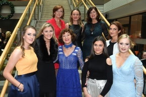 EE socials 19/11/2016.Ten Year Anniversary lunch at The Clarion Hotel on November 19th. The Emer Casey Foundation is a Cork based ovarian cancer charity which has worked to spread awareness of ovarian cancer as well as improving research and medical care for the past ten years.McPolin family ladies; (front five) Jean, Emily, Pauline, Sarah and Aoife with (rear 5) Crena, Terri, Grace and Lucy at the lunch.Pic; Larry Cummins