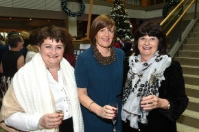 EE socials 19/11/2016.Ten Year Anniversary lunch at The Clarion Hotel on November 19th. The Emer Casey Foundation is a Cork based ovarian cancer charity which has worked to spread awareness of ovarian cancer as well as improving research and medical care for the past ten years.Mairead Buckley, Rochestown; Marian Mulcahy, Ballincollig and Rosarie Breen, Rochestown.Pic; Larry Cummins
