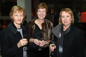 EE socials 19/11/2016.Ten Year Anniversary lunch at The Clarion Hotel on November 19th. The Emer Casey Foundation is a Cork based ovarian cancer charity which has worked to spread awareness of ovarian cancer as well as improving research and medical care for the past ten years.Youghal ladies Joan Collins and Margaret Kenneally and Mary Barry-O'Driscoll, Rochestown.Pic; Larry Cummins