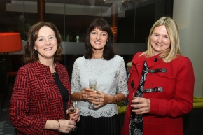 EE socials 19/11/2016.Ten Year Anniversary lunch at The Clarion Hotel on November 19th. The Emer Casey Foundation is a Cork based ovarian cancer charity which has worked to spread awareness of ovarian cancer as well as improving research and medical care for the past ten years.Anne Moriarty, Model Farm Road; Leona Heaphy, Tallow and Mary O'Connor, Model Farm Road.Pic; Larry Cummins